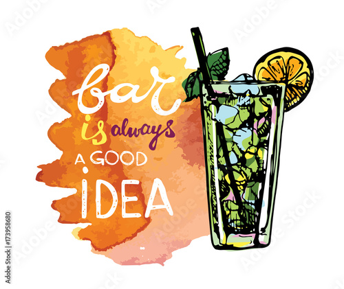 Cocktail set Canvas Print