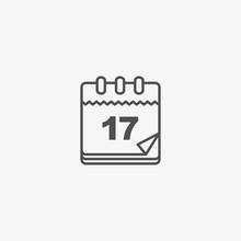 Calendar Vector Icon, Vintage ...
