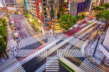 Fototapeta Tokyo, Japan in the Ginza District