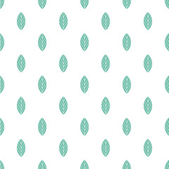FototapetaBlue leaves seamless pattern