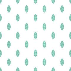 Fototapeta Blue leaves seamless pattern