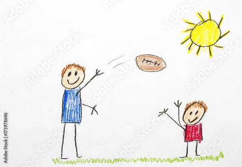 Kids Drawing Playing Football Buy This Stock Photo And Explore Similar Images At Adobe Stock Adobe Stock