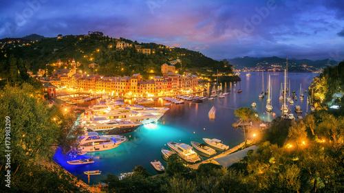 Portofino at Night Canvas Print