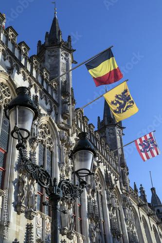 Poster Brugge Provinciaal Hof - Bruges - Belgium.
