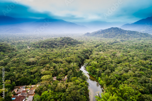 Photo Aerial View of Amazon Rainforest, South America