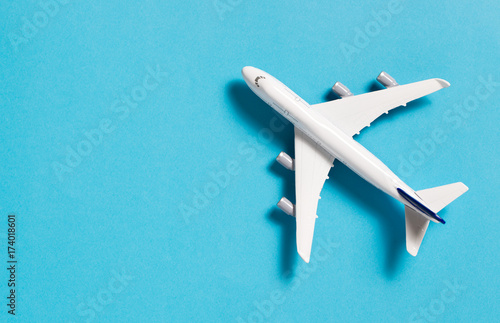 Deurstickers Vliegtuig Miniature airplane isolated