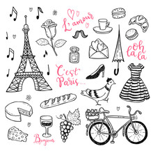 Doodle Vector Set With Hand Dr...