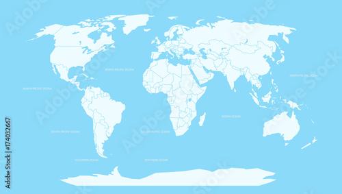 Foto op Aluminium Wereldkaart World map infographic layout. World map Vector globe template for presentations, web, design, cover, infographics