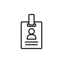 Id Badge Line Icon