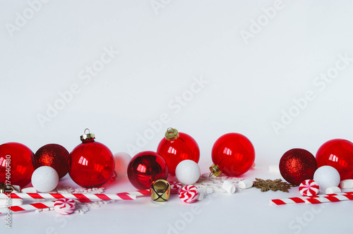 Christmas Decorations On White Background Transparent Red