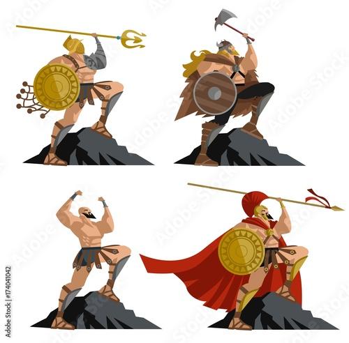 Papel de parede  four great warriors