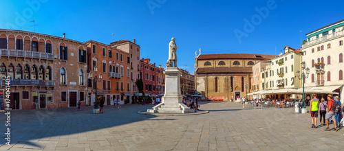 Plakat Wenecja - plac Campo Santo Stefano