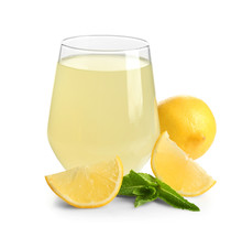 Glass Of Fresh Lemon Juice On ...