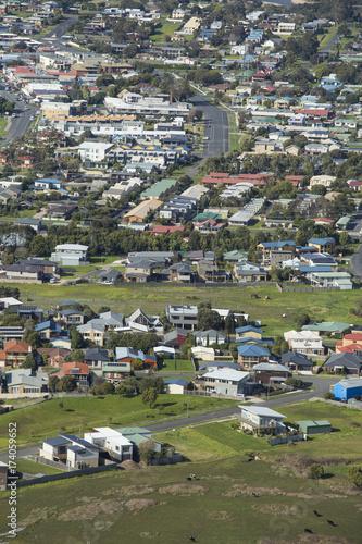 Keuken foto achterwand San Francisco View of Apollo Bay and Houses Along the Great Ocean Road, Australia