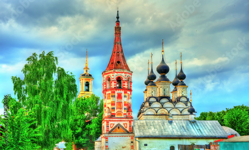 St. Antipas and St Lazarus churches in Suzdal, Russia Canvas Print