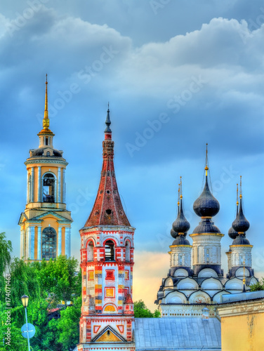 St. Antipas and St Lazarus churches in Suzdal, Russia Wallpaper Mural