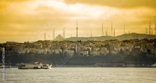 Obraz na dibondzie (fotoboard) Panorama Istanbuł w wczesnym poranku