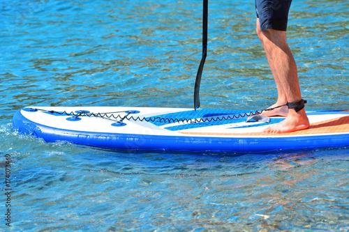 Plakat Sup surfowanie. Wstań wiosło.