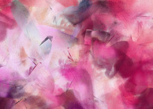 Abstract Texture. Floral Background. Painted On Canvas Watercolor Artwork. Digital Hand Drawn Art. Modern Artistic Work. Good For Printed Pictures, Design Postcard, Posters And Wallpapers.