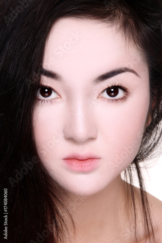 Asian porcelain skin