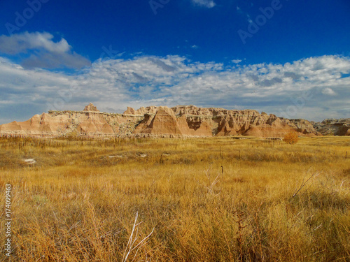 Garden Poster Landscape View of Badlands in South Dakota