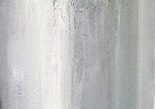 Drops Of Cold Water On Surface Stainless Tank