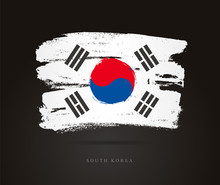 Flag Of South Korea. Abstract ...