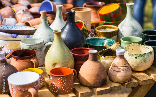 Ukrainian pottery Fototapeta