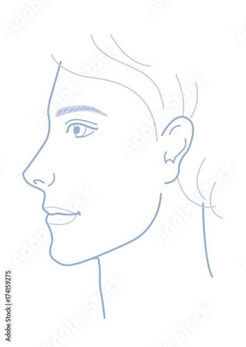男性 顔 横顔 Adobe Stock でこのストックイラストを購入して類似の