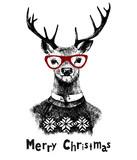 Christmas card with deer - 174160098