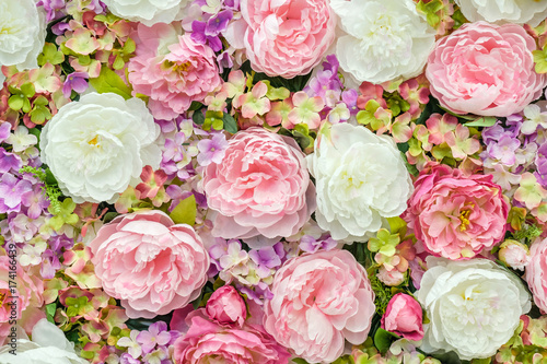 Foto op Canvas Bloemen Floral background