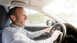 Nervous and angry driver, transportation and lifestyle concepts
