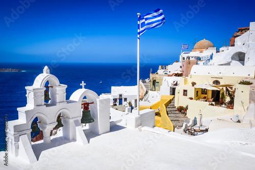 Papiers peints Santorini Santorini, Greece - Oia white city