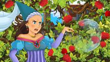 Cartoon Scene Of Beautiful Pri...