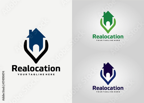 Real Location Logo Template Design Vector Emblem Design Concept