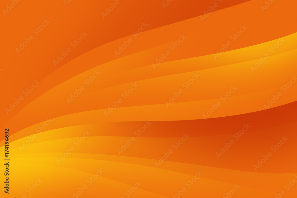 Fototapety, obrazy: Abstract orange background with smooth lines, futuristic design.