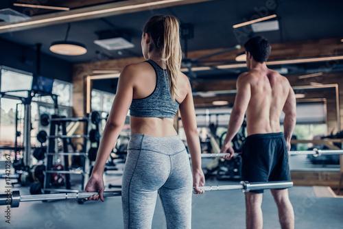 Fotografia  Couple in gym