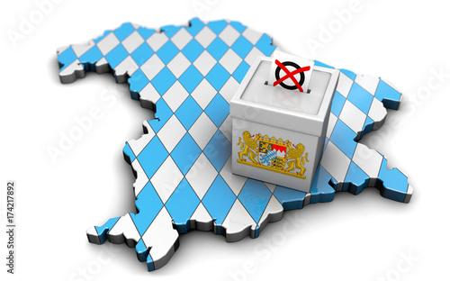 Landtagswahl Bayern 2018 Canvas Print