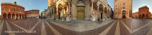 Obraz na plátně  Cremona, piazza del Comune a 360°
