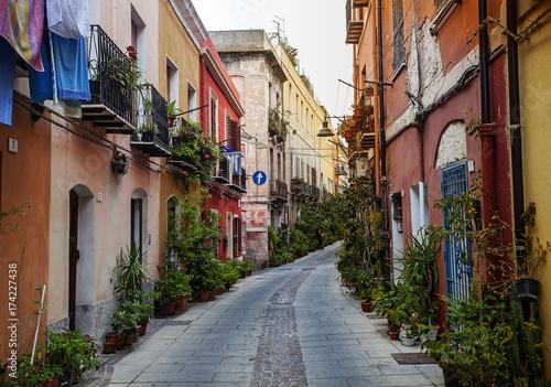 Quartiere Villanova, Cagliari, Sardegna, Italy