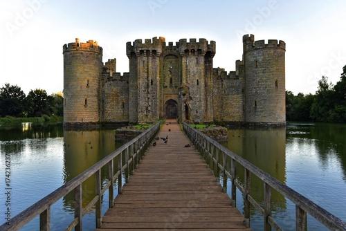 Foto auf AluDibond Historisches Gebaude Bodiam Castle in East Sussex England