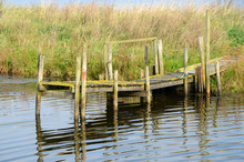 Short Lopsided Boat Bridge At ...