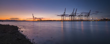 Southampton Docks Viewed From ...