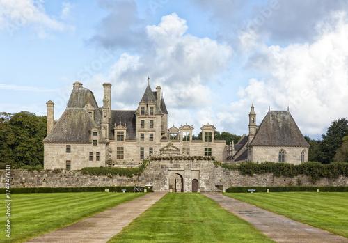 Plakat Zamek Kerjean w Saint-Vougay, Bretania, Francja,
