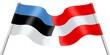 Flags. Estonia and Austria