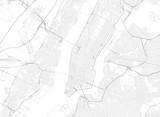 Fototapeta Nowy York - Vector black map of New york