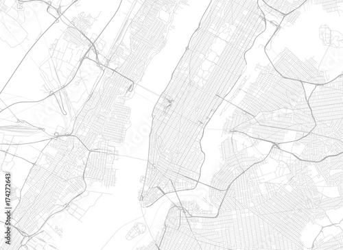Fototapeta Wektorowa czarna mapa Nowy Jork