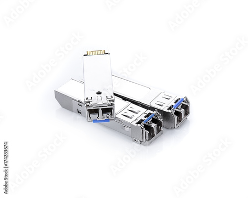 Fotografie, Obraz  SFP Module on white background
