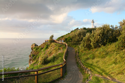 The Byron Bay lighthouse sits on Australia's most eastern mainland point Poster Mural XXL