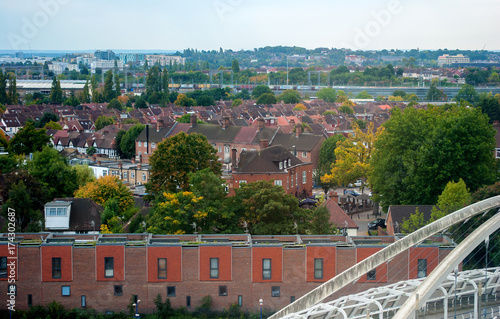 Photo  Suburban areas view in North London